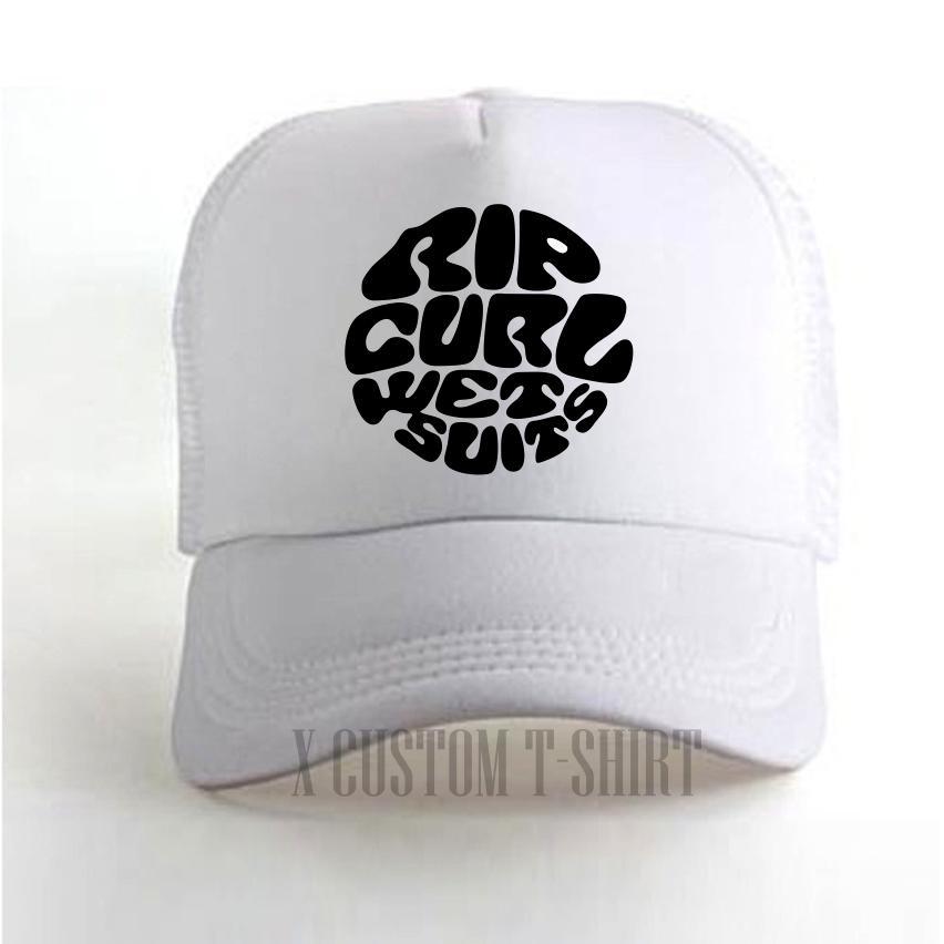 Topi pria / Topi distro / trucker putih ripcurl hitam
