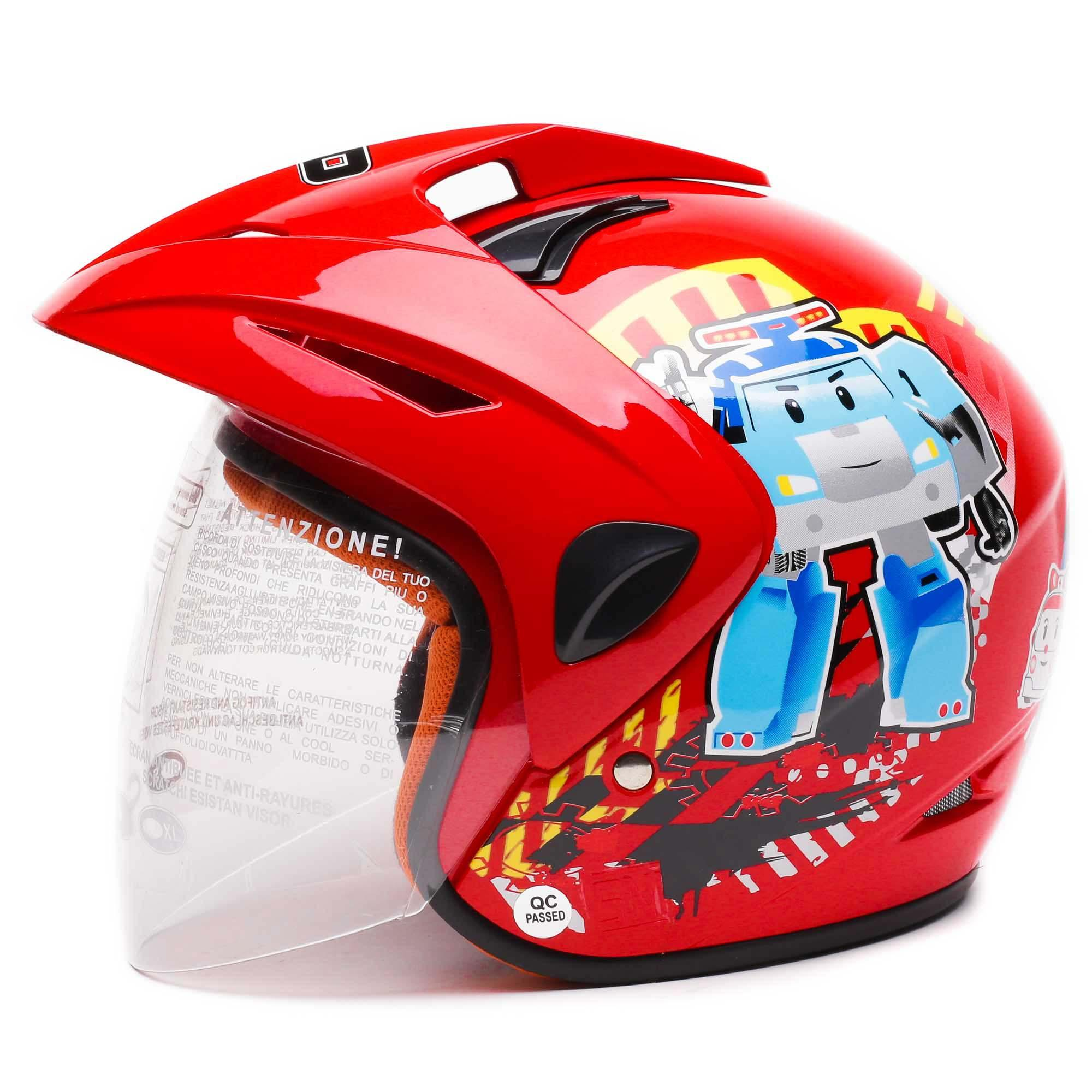 WTO Helm Anak Kids Pet - Robocar Poli - Merah - Ukuran M