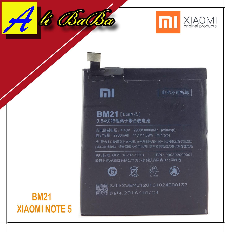Baterai Handphone Xiaomi BM21 BM-21 Xiaomi Note 5 Battery Original