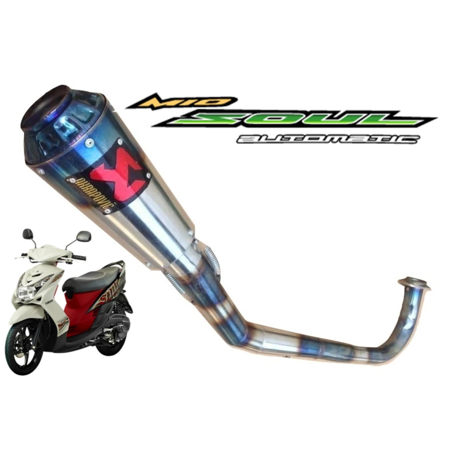 Jual Komponen Knalpot Emisi Kendaraan Lazada R9 Assen Yamaha Scorpio Full System Motor Mio Soul Akrapovic Bluemoon