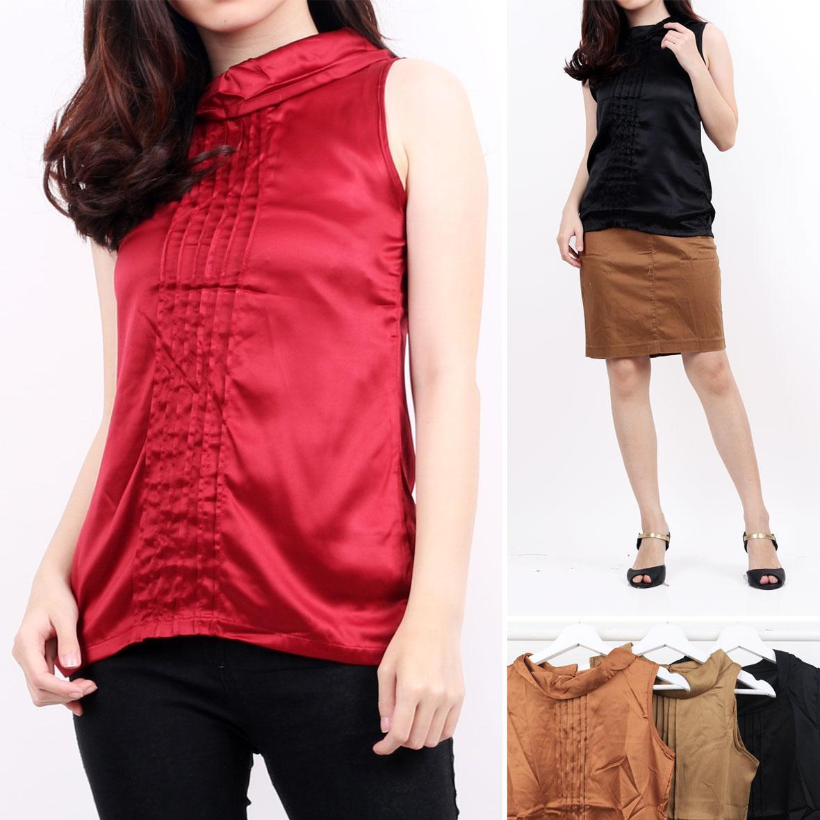 Oma Fashion Adelaide Blouse Sleeveless 4 Warna-Size M
