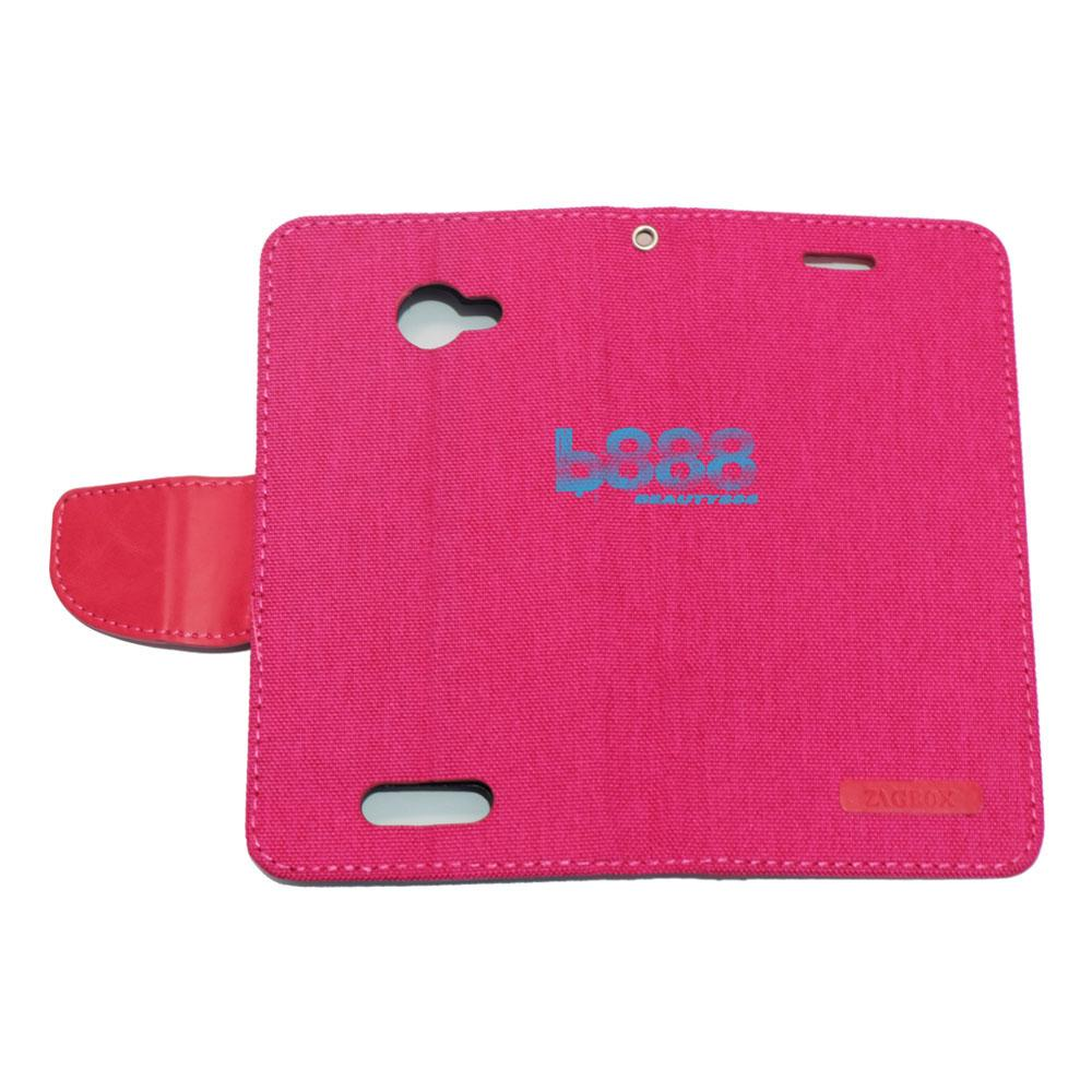Aimi Ume Canvas Diary Leather Case Sarung Smartfren Andromax B Flipshell Andromax B / Flip Cover