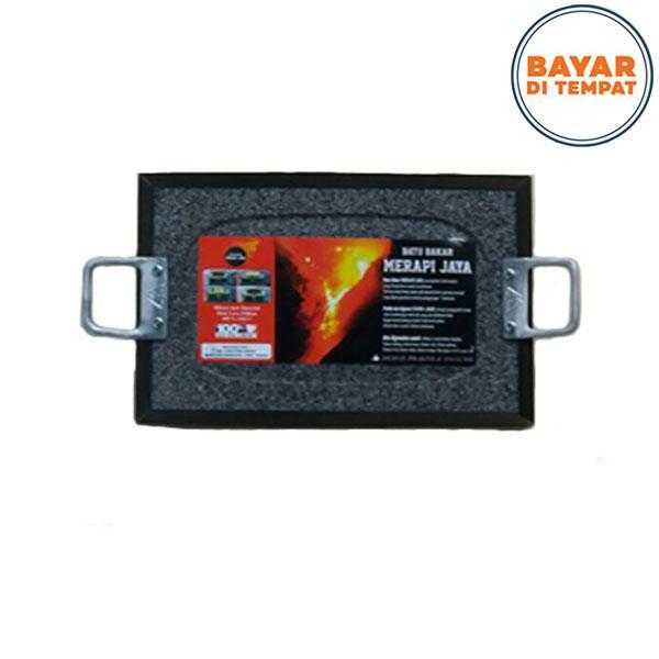 Panggangan Batu Bakar Lava Merapi / Alat Pemanggang Daging Ukuran 20 x 30 cm