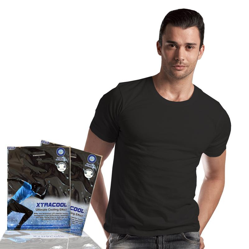 Rider Xtra Cool R258B Round Neck Tshirt Kaos Dalam Pria with Ultimate Cooling Technology - Hitam