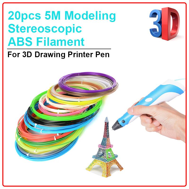Xcsource 20pcs 5m Modeling Stereoscopic Abs Filament For 3d Drawing Printer Pen Th088 By Xcsource-Id.