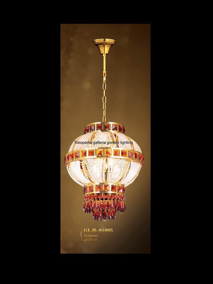 Promo lampu hias gantung kristal dekorasi ruang tamu 81005/300 Termurah
