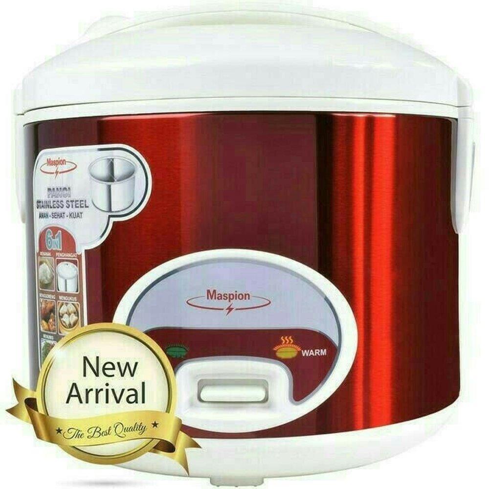 Rice cooker mini stainless maspion mrj 109ms - magic com kecil 1.2 L