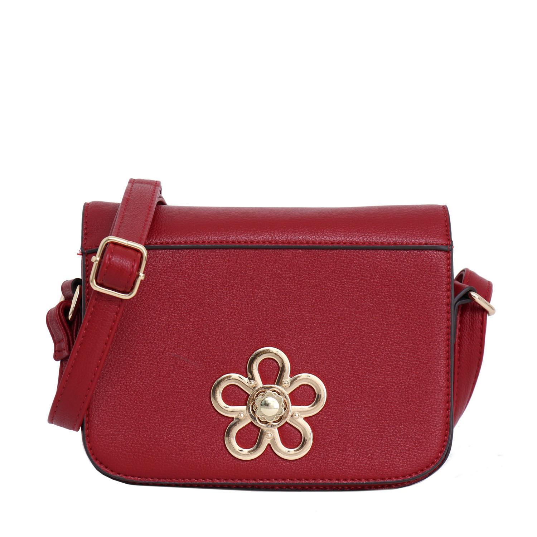 Lorica by Elizabeth Bayne Sling Bag Red