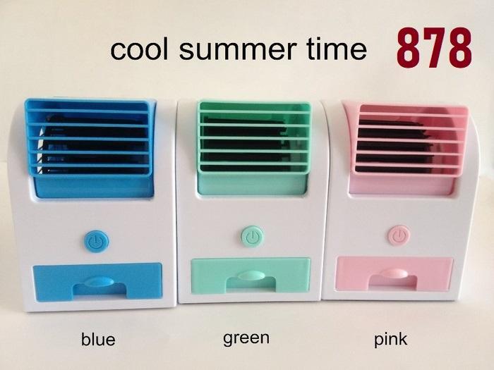 AC Mini Double Blower / AC Mini Porttable Twin Blower / Mini Fan AC / AC Duduk Kipas Pendingin