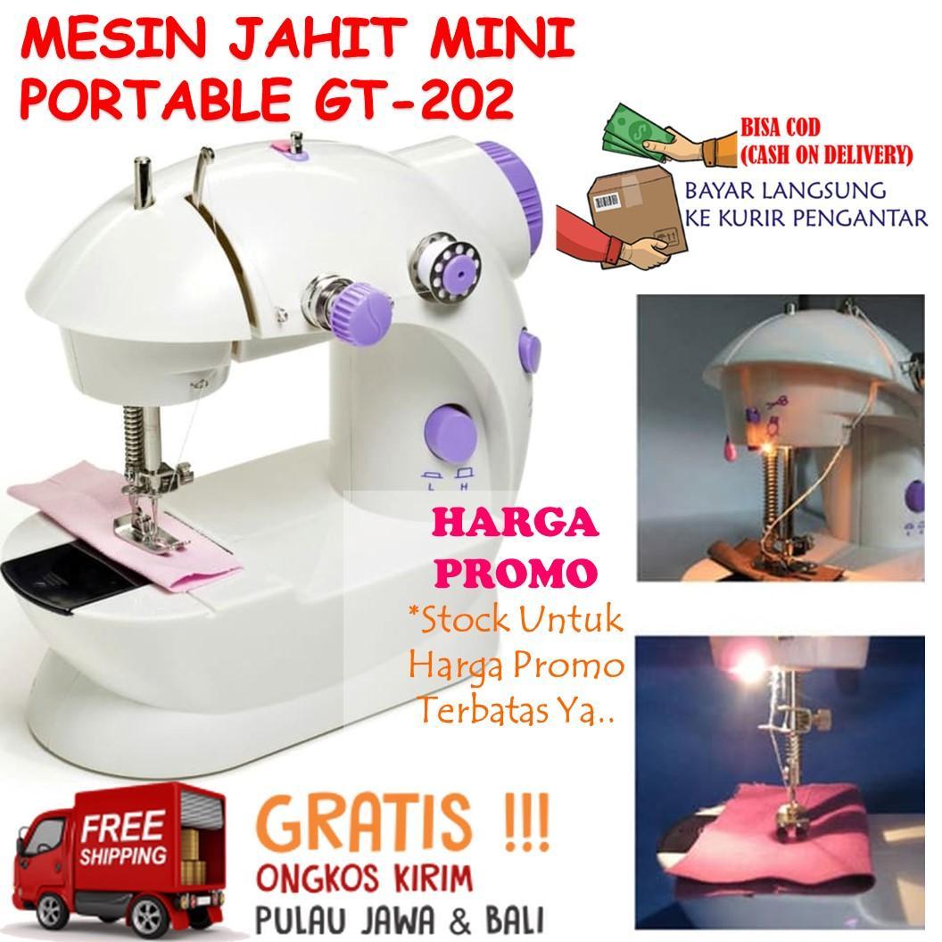 Mesin Jahit Mini Portable Mudah Dibawa SM-202 Sewing Machine Pedal Praktis