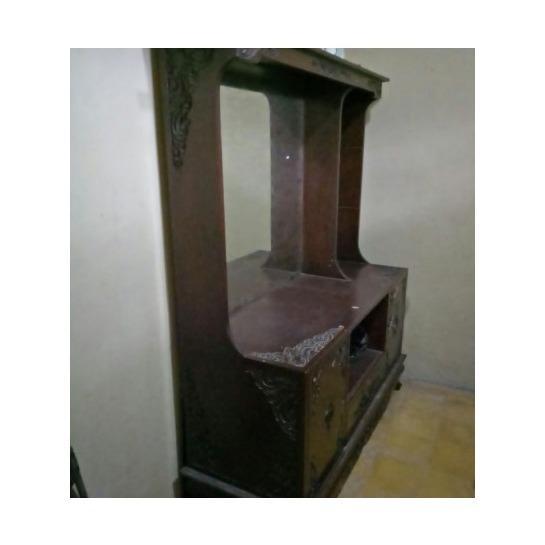 Tempat tidur dan lemari kayu jati asli