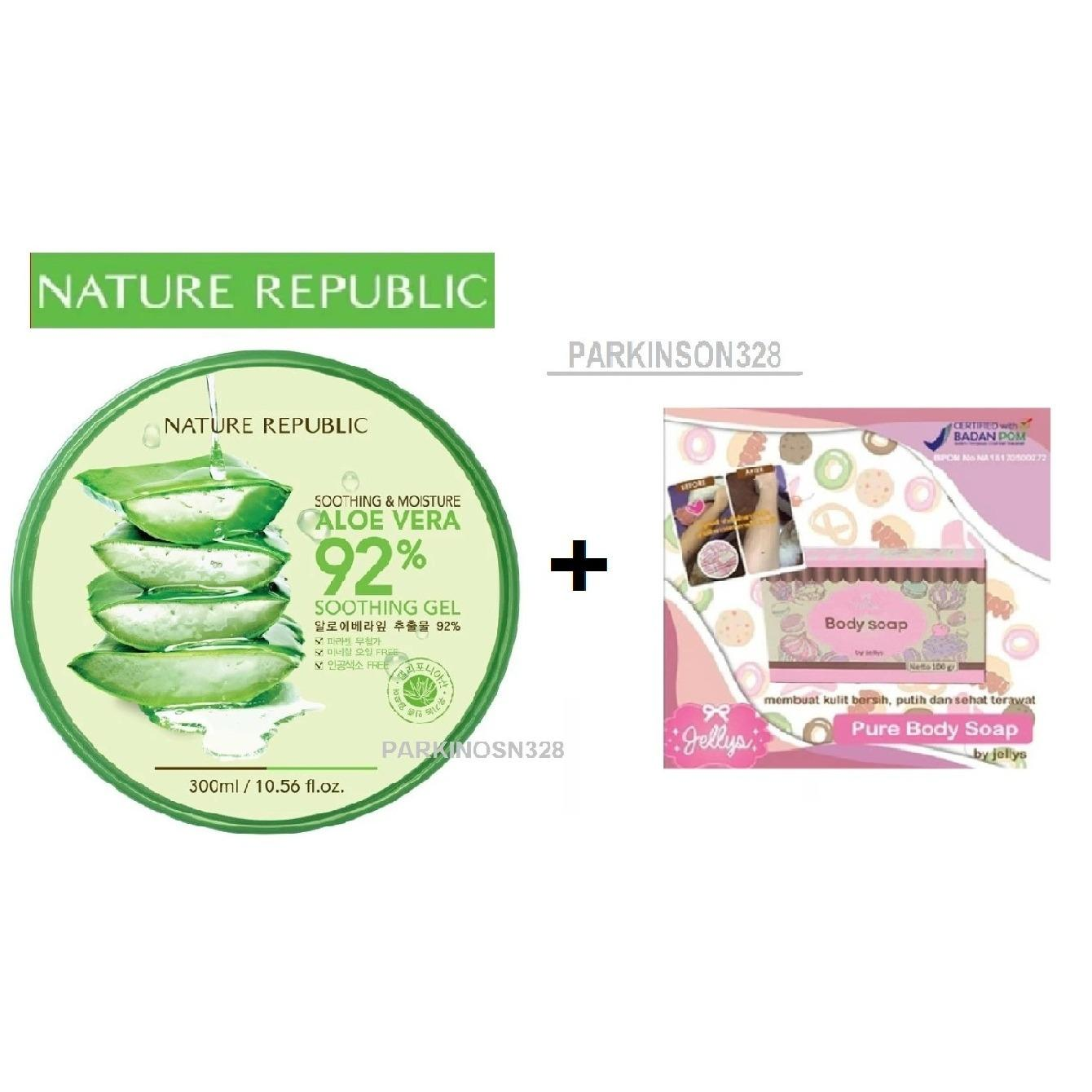 Buy Sell Cheapest Pure Body Soap Best Quality Product Deals Bpom By Jellys Original Nature Republic Korea Soothing Moisture Aloe Vera 92 Gel 300ml