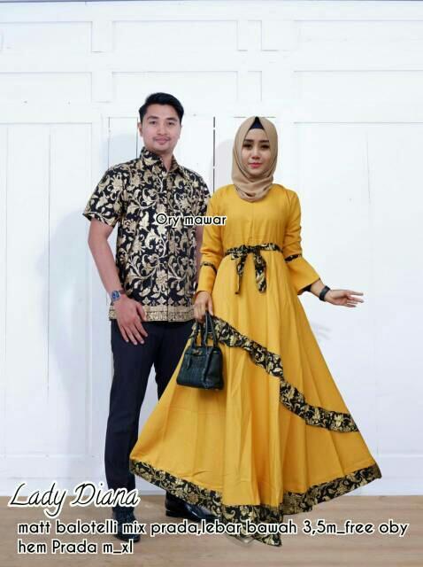 Batik Couple / Baju Muslim Wanita Terbaru 2018 / Hem Batik Pria / Couple Batik / Baju Batik Sarimbit / Baju Batik Modern / Batik Kondangan / Baju Batik / Gamis Muslim - Lady Diana