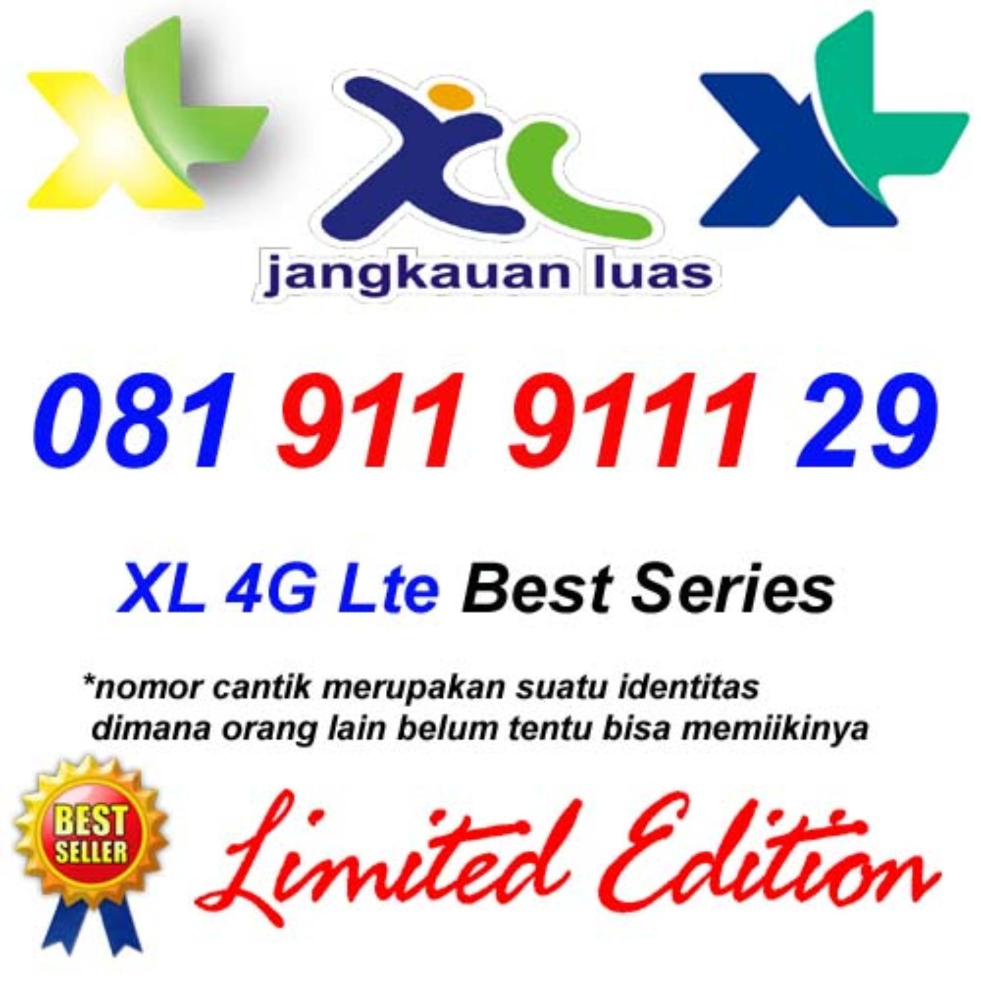 Kartu XL 4G Lte 081 911 9111 29 Perdana Nomor Cantik