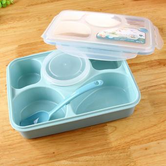 Pencarian Termurah Yooyee Lunch Box Kotak Makan Sup Sekat 5 Untuk Bento Set - Biru harga penawaran - Hanya Rp39.867