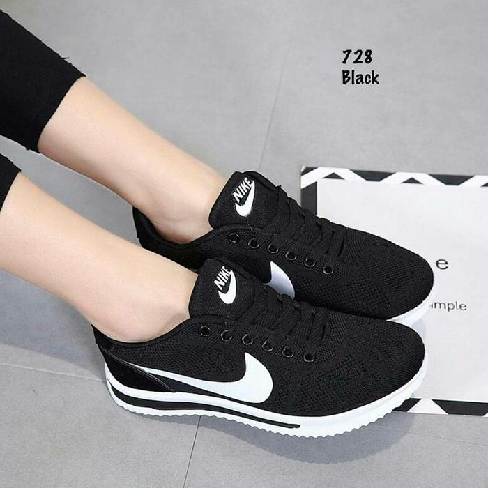 SEPATU KETS NIKE RD109 HITAM & ABU / Sepatu casual murah / sepatu sneakers terbaik / Sepatu Slip On / SEPATU KETS / Fashion Wanita / sepatu terbaru