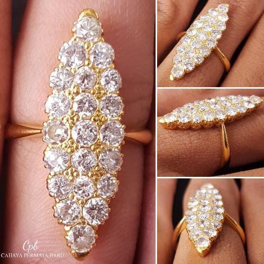 New Cincin Emas 4.60 Gram Berlian Banjar 1.90 Carat Fashion Wanita
