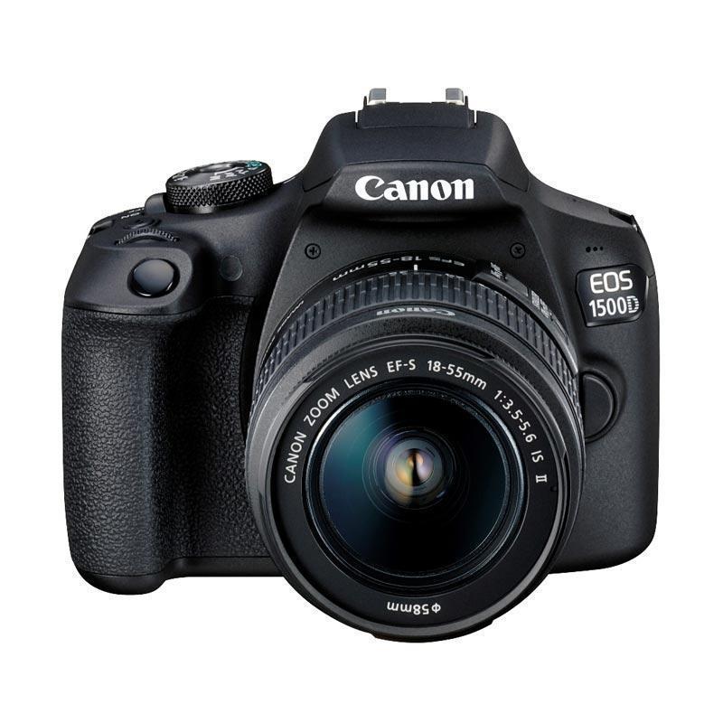 Canon Eos 1500d Kit Ef-S 18-55mm Is Ii Black By Focus Nusantara--.