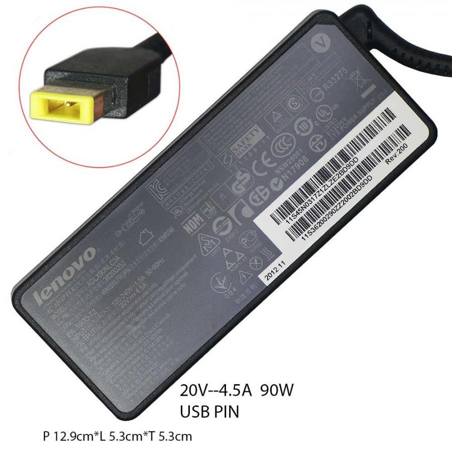 LENOVO Ori Adaptor Charger Laptop Notebook ThinkPad E570 E431 E440 L440 T440P T460P T540P 20V 4.5A USB