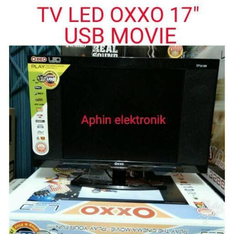 TV LED OXXO 17 DILENGKAPI USB MOVIE