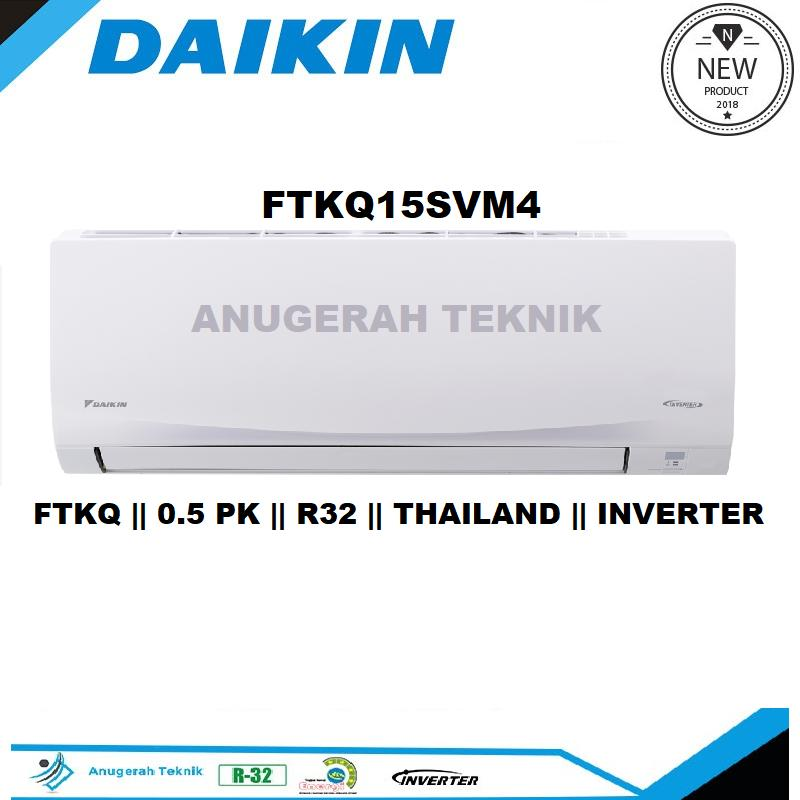 Daikin AC  Split 0.5 PK R32 Thailand Flash Inverter - FTKQ15SVM4