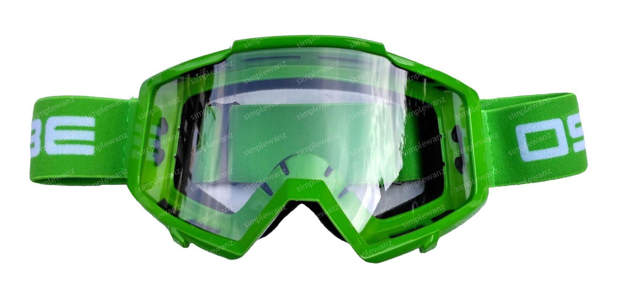 Kacamata Motocross Goggle OSBE Google Trail Hijau