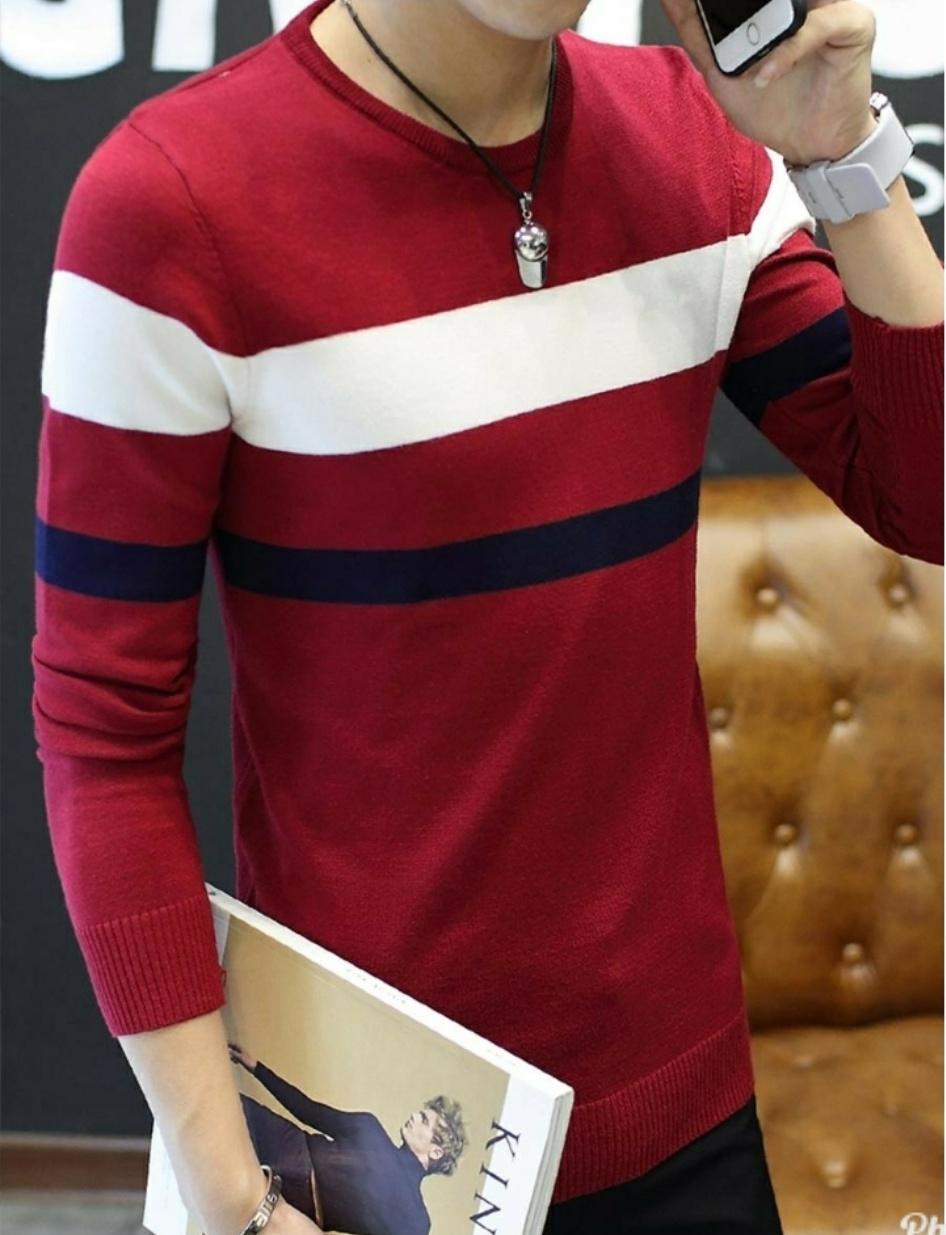 Kaos Polos Lengan Pendek Marun Basic Tshirt Maroon Solid Daftar Anvi Jisung Merah 4 Warna Panjang
