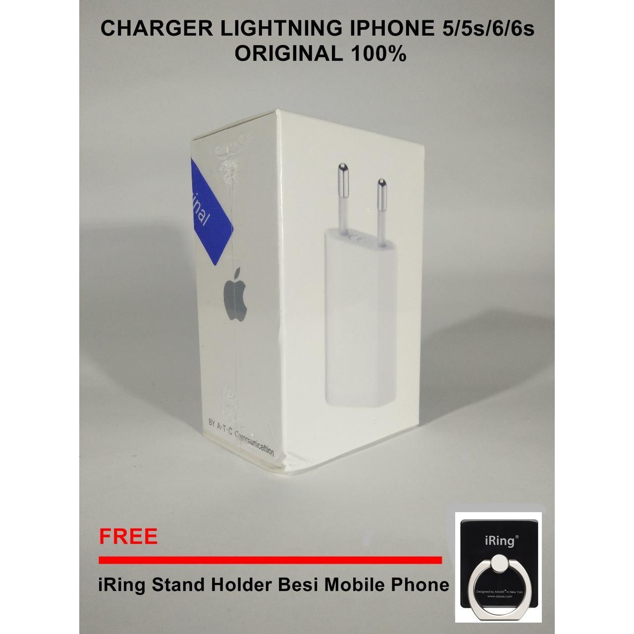 Gold Store Charger + Kabel iPhone 5 / 5s / 6 / 6+ ORIGINAL LIGHTNING