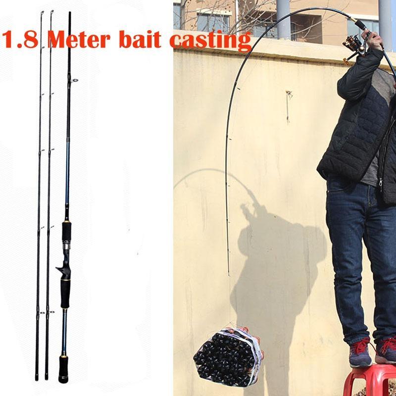 18 21 Meter Spinning Bait Casting Fishing Rod Tongkat Pancing Joran Putar Bahan Karbon Fiber