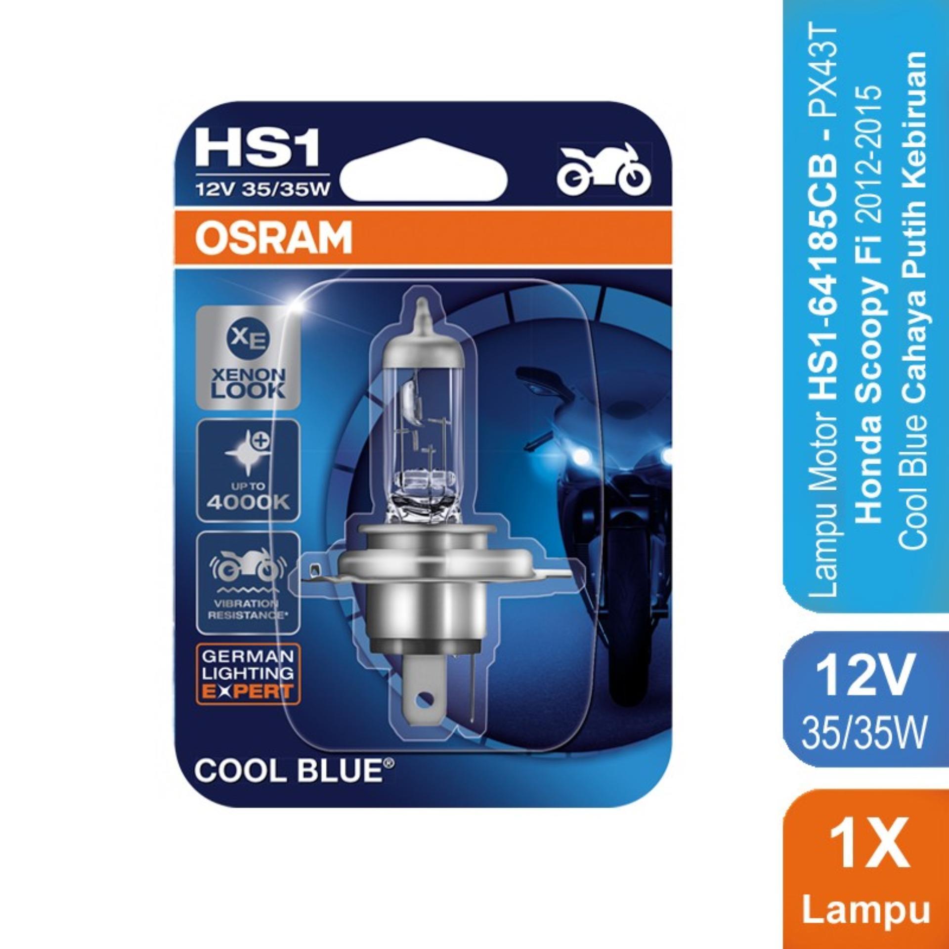 Osram Lampu Motor Honda Scoopy Fi 2012-2015 - HS1 64185CB PX43T - Cool Blue