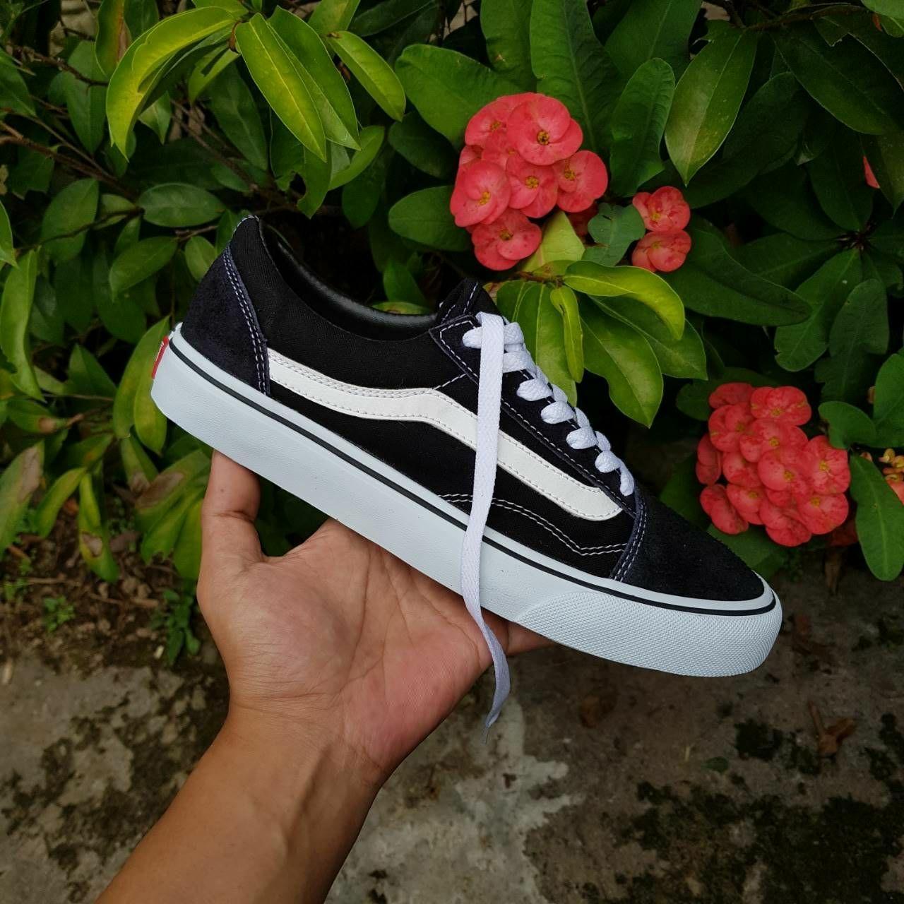 Promo Sepatu Vans Old Skool Black White