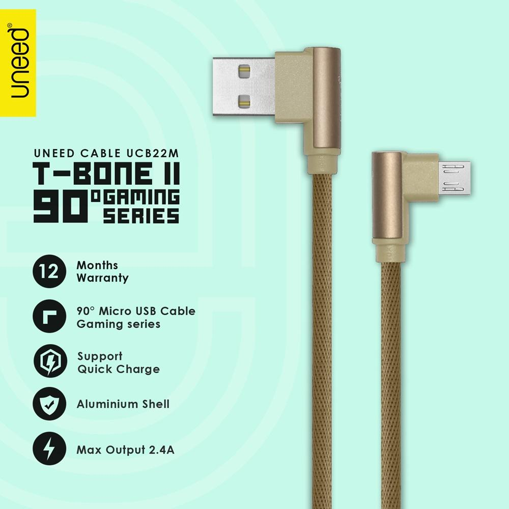 Uneed T Bone Ii Kabel Data Micro Usb Quick Charging - Ucb22m - Original By Uneed.