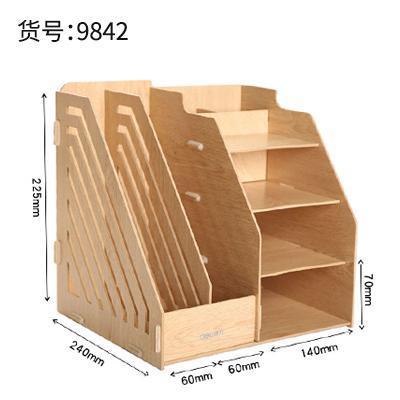 Deli Meja Kerja Kombinasi Kotak Dokumen Kursi Kayu Multifungsi