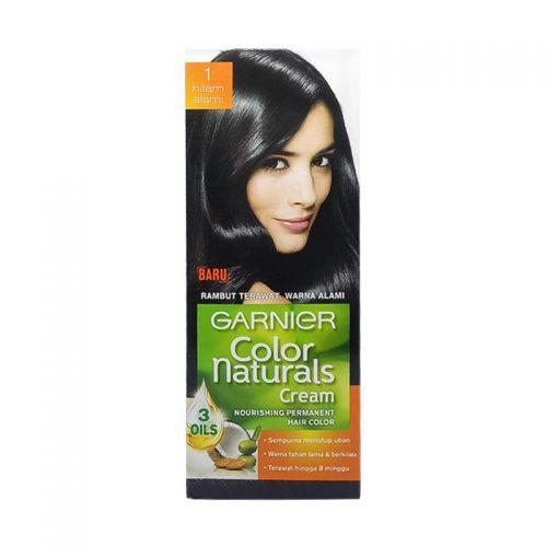 Garnier Color Naturals Cream ( 1 ) Hitam Alami 60ml + 40g ( Pewarna Rambut )