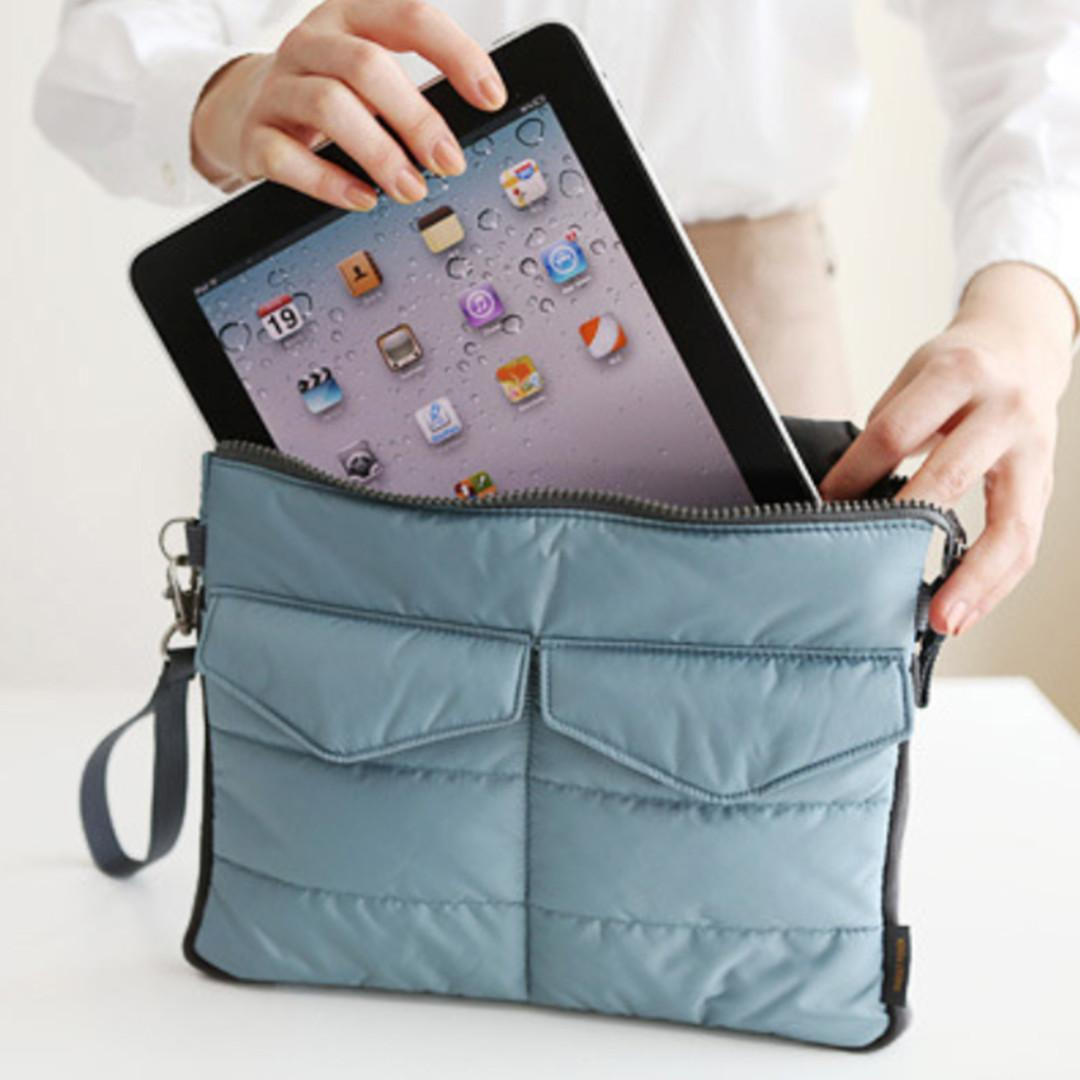 EDW 057 Tas Ipad tebal - shockproof tablet case - tas table / tas iphone / dompet penyimpanan
