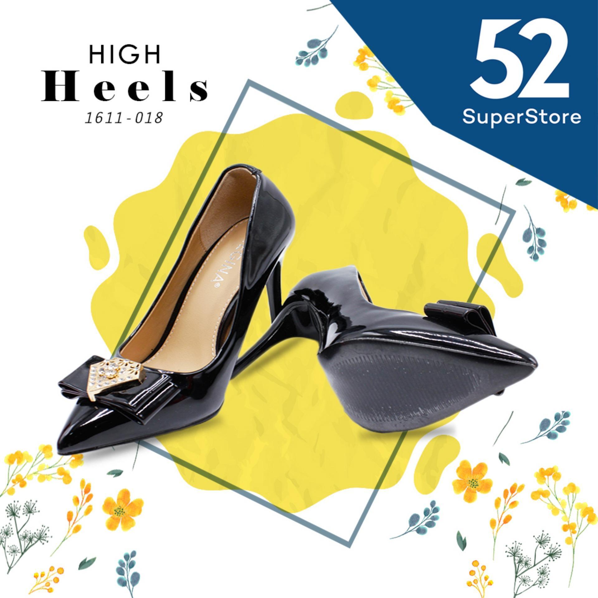 Regina Sepatu Pantofel Wanita 1611-018 - Black (HAK 9 cm) Size 36-40