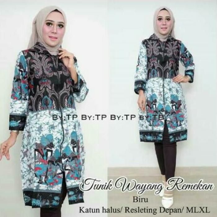 Dress Batik Solo. Tunic Batik Wayang Remekan Series