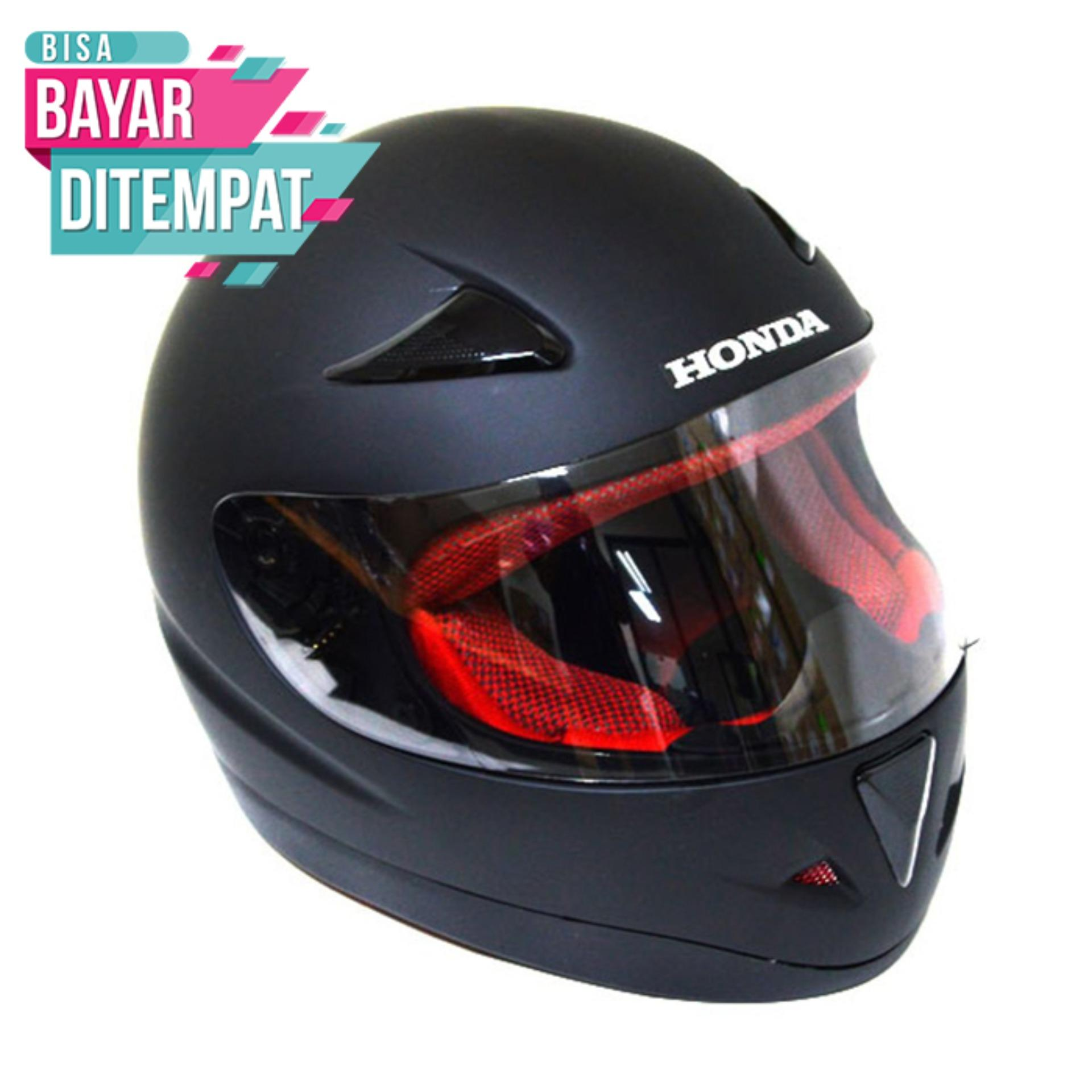 [Promo Best Seller] Helmet Full Face Honda CBR Hitam Kualitas Setara helm KYT INK GM WTO MSR BMC NHK