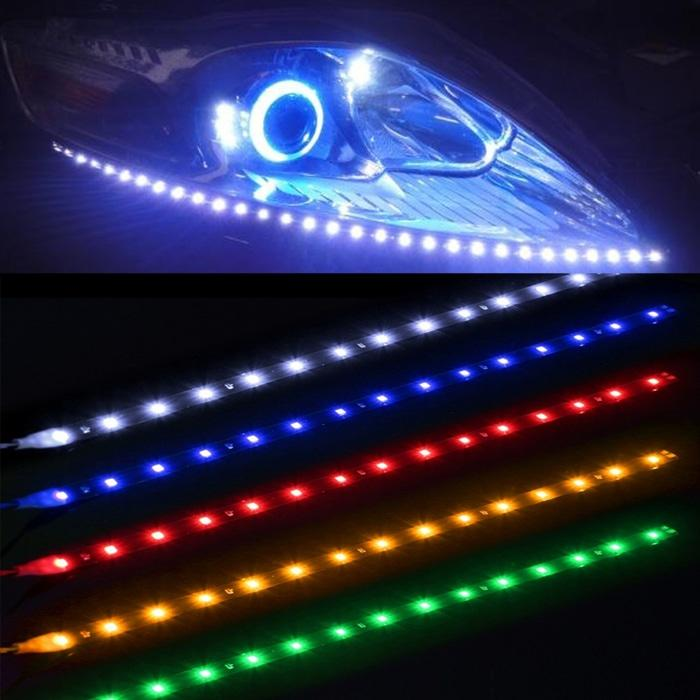 Lampu LED Strip Mobil Headlamp Waterproof 5W 15SMD 30CM