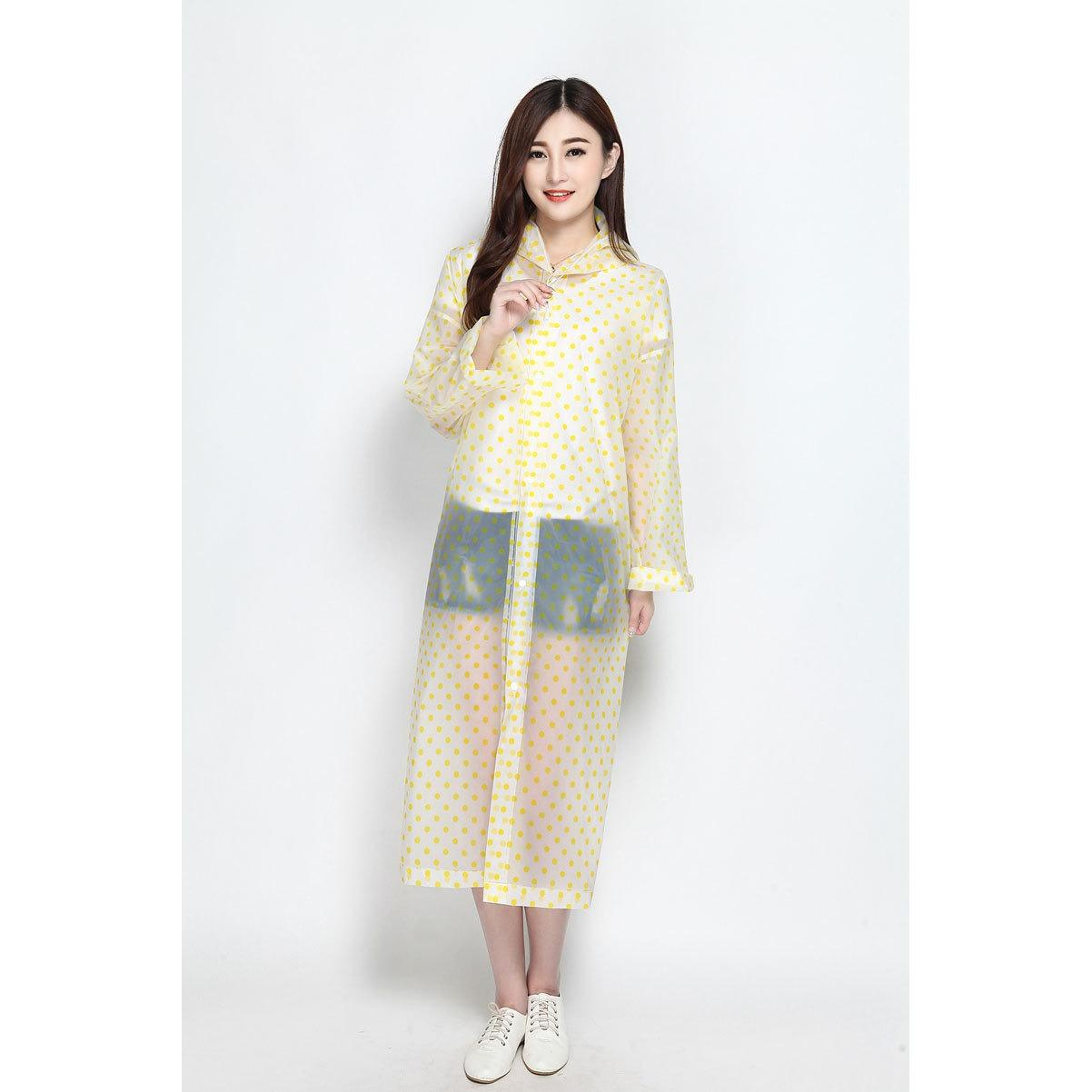 Jas Hujan Korea Polkadot Raincoat Poncho Ponco - Murah By Hoolee Shop.