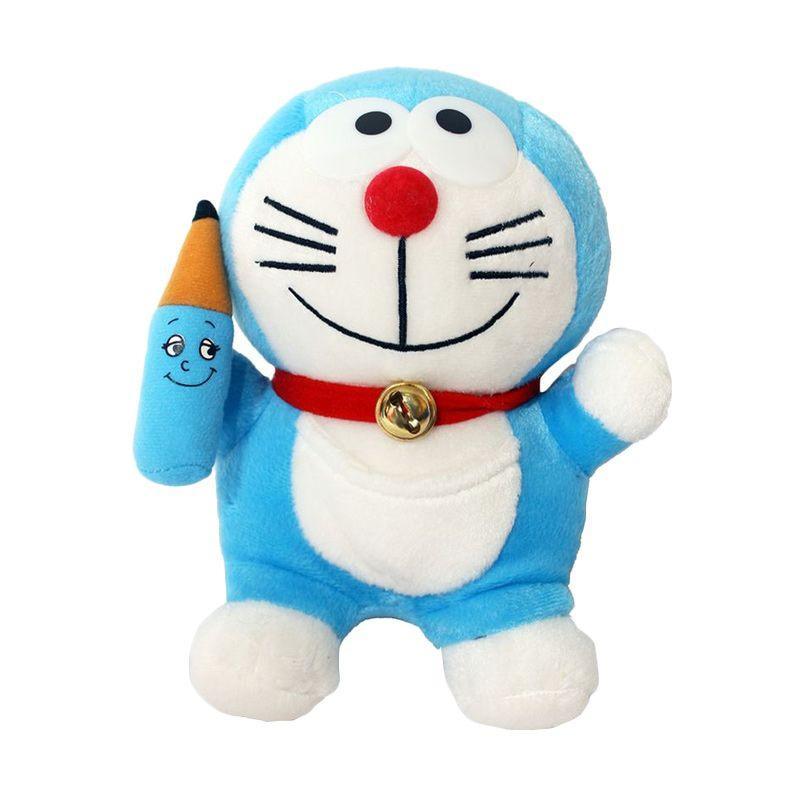 Merchandise Doraemon Terlengkap Id Boneka Gadget Pensil 6 Biru Gambar