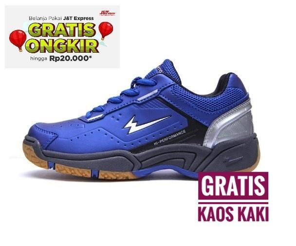 Sepatu Badminton Bulutangkis Eagle Premier Jr - Blue Black 25f36c809f