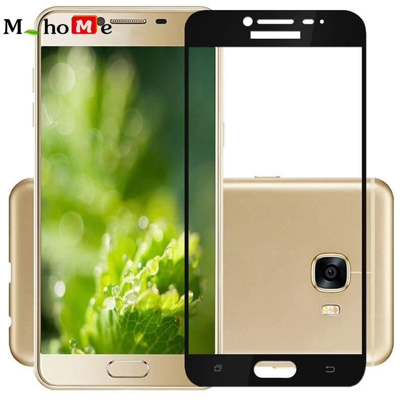 M_home Ultra Tipis Kaca Antigores Sutra Cetak Pelindung Layar Cover untuk Samsung Galaxy C9 Pro