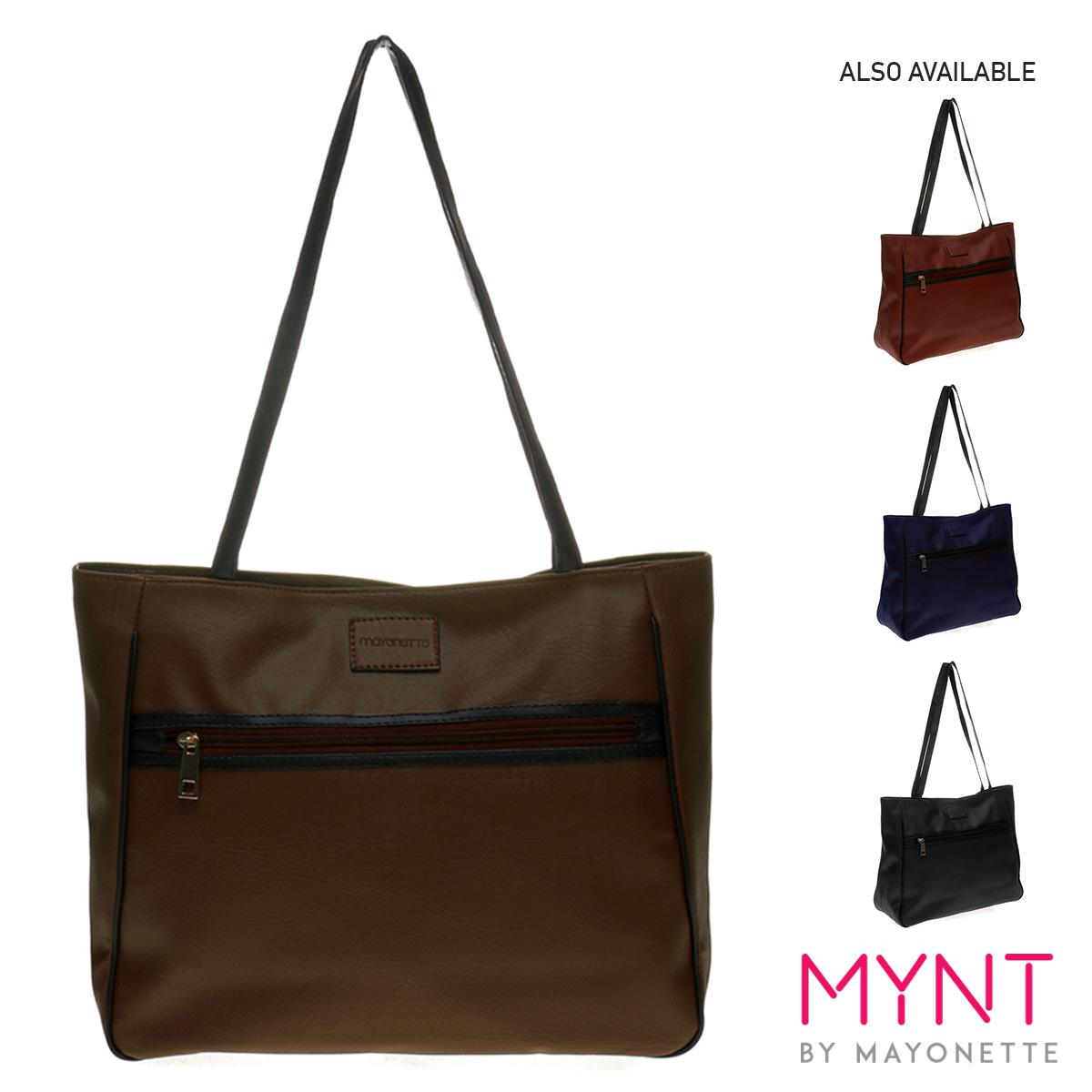 MYNT by Mayonette Tas Bahu Wanita Shoulder Bag Korean Style Daily Basic Wear Impor Quality Legato Totes (Coklat Tua)