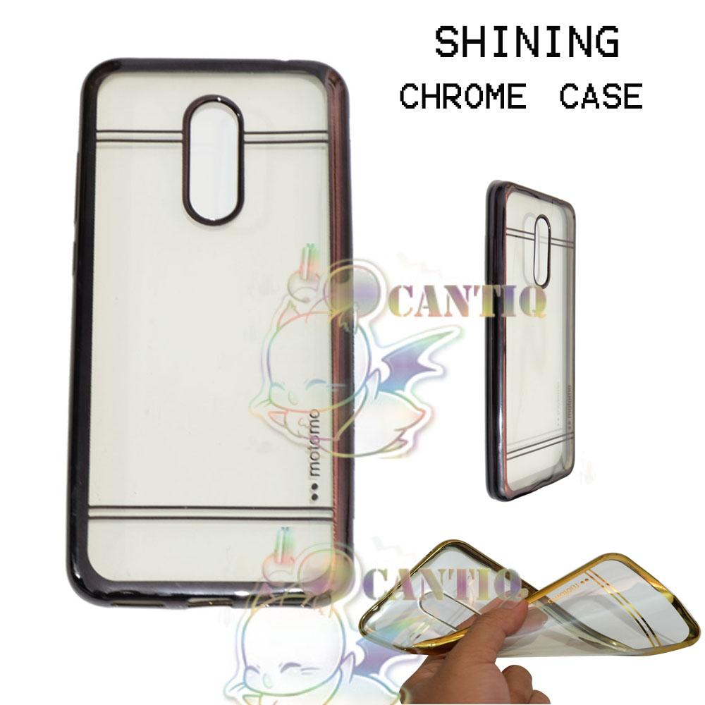 Motomo Chrome Soft Case Xiaomi Redmi 5 Plus / Silikon Xiaomi Xiaomi Redmi 5 Plus Shining Chrome / Tpu Jelly Ultrathin Xiaomi Redmi 5 Plus Ring Glossy ...