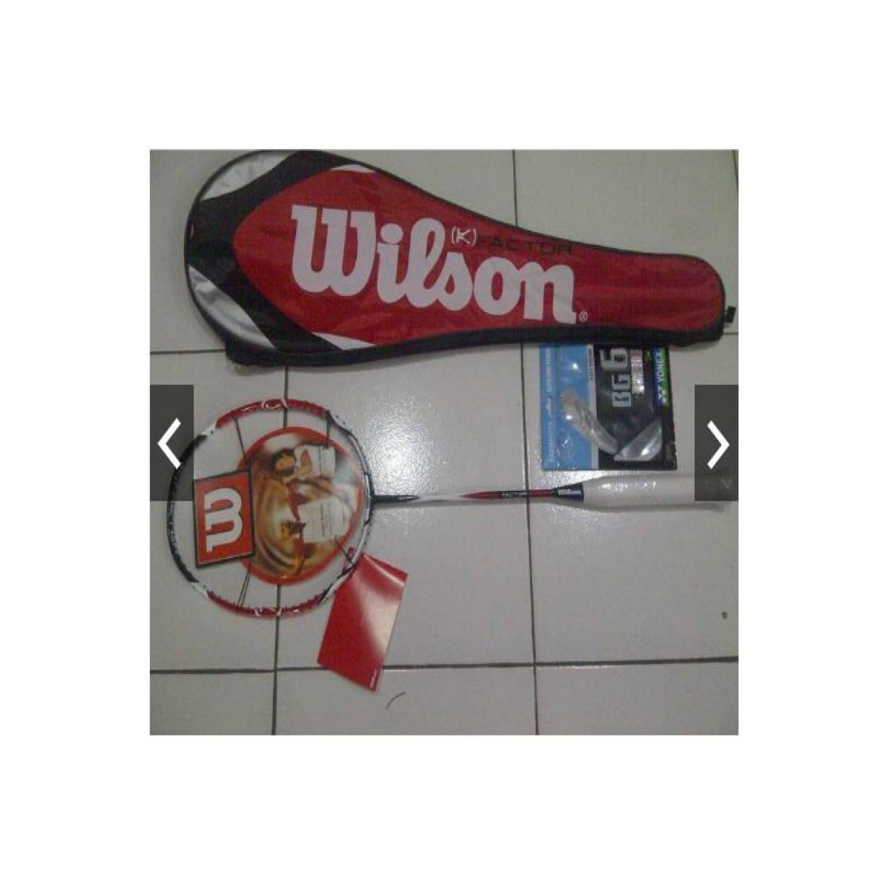 Raket badminton Wilson kfaktor merah limited edition