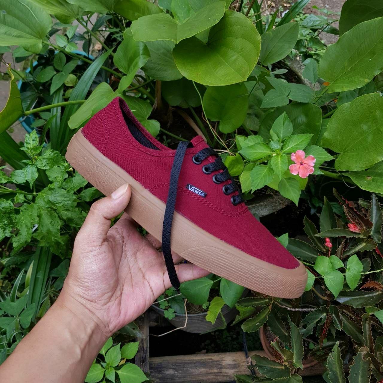 Promo Sepatu Vans Authentic Maroon gum