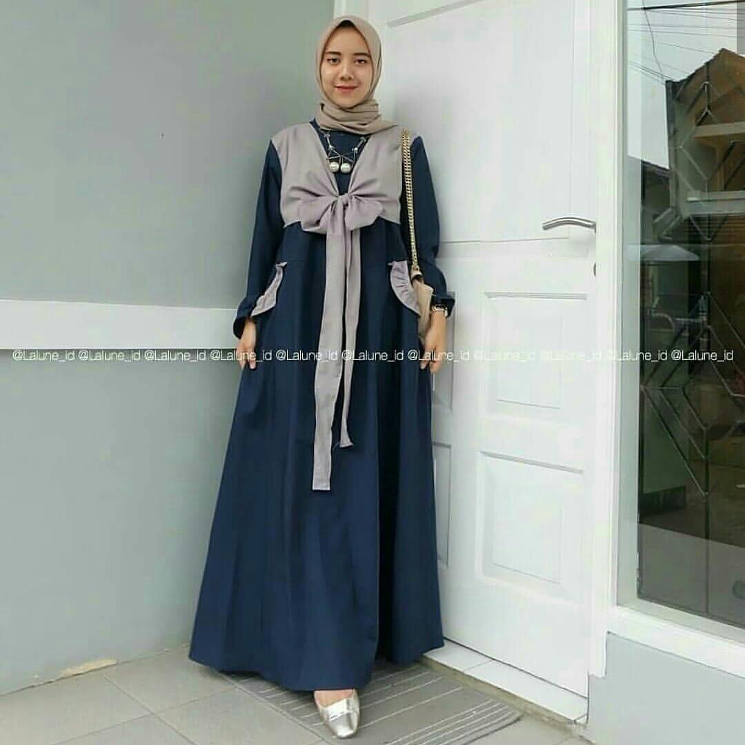 FJCO Abie Maxy Pita / Dress wanita / Fashion wanita / Fashion Muslimah