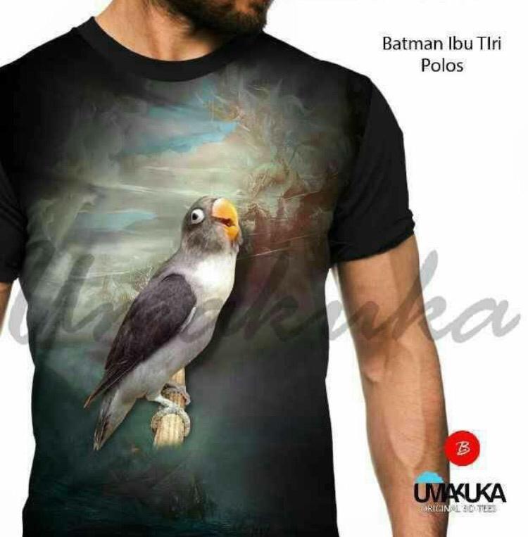 Batman ibu tiri polos kaos burung kicau mania lovebird 3d fullprint