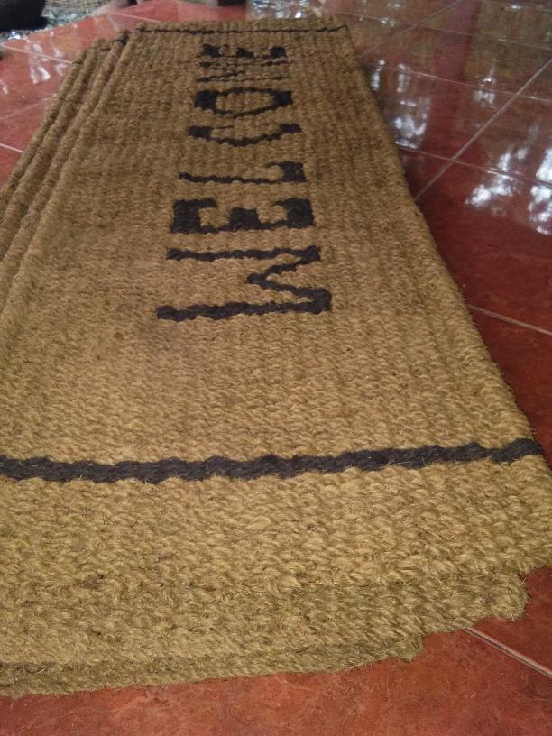 Keset sabut kelapa WELCOME, SUPER, ukuran 150*50*3 cm. - Z9gx6c
